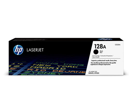 HP 128A Black Toner Cartridge CE320A