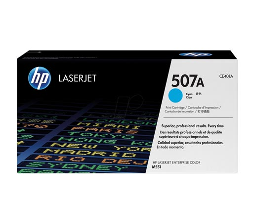 HP 507A Cyan Toner Cartridge CE401A