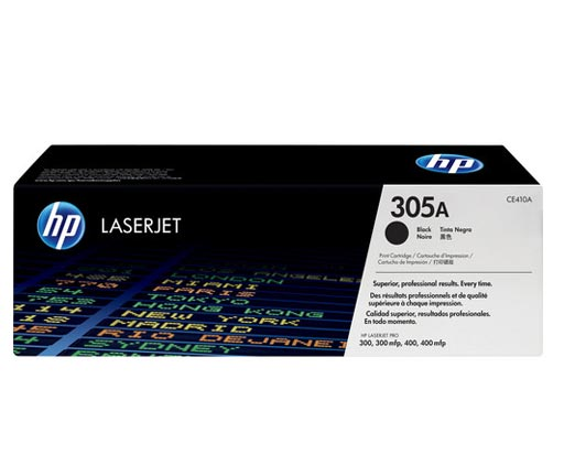 HP 305A Black Toner Cartridge CE410A