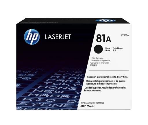 HP 81A Black Toner Cartridge CF281A