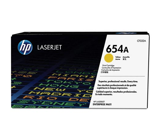 HP 654A Yellow Toner Cartridge CF332A