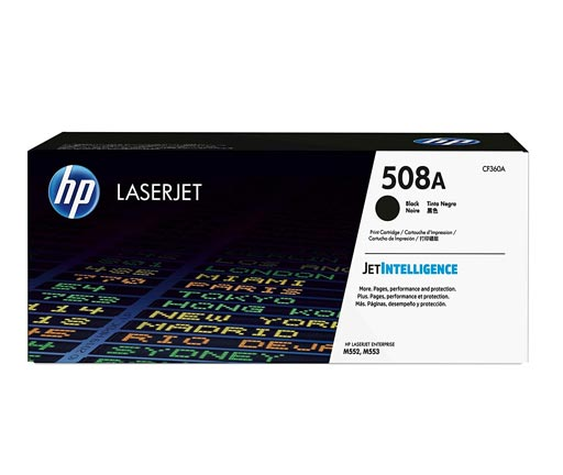 HP 508A Black Toner Cartridge CF360A