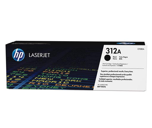HP 312A Black Toner Cartridge CF380A