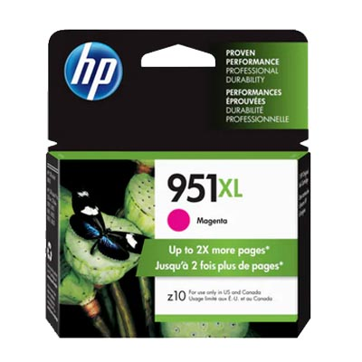 HP 951XL Magenta Ink Cartridge, CN047A