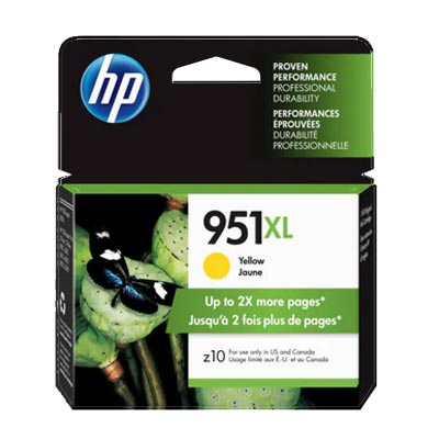 HP 951XL Yellow Ink Cartridge, CN048A