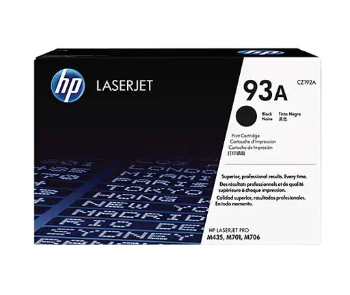 HP 93A Black Toner Cartridge CZ192A