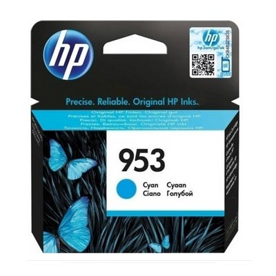 HP 953 Cyan Ink Cartridge, F6U12A