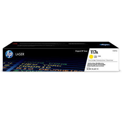 HP 117A Yellow Toner Cartridge W2072A