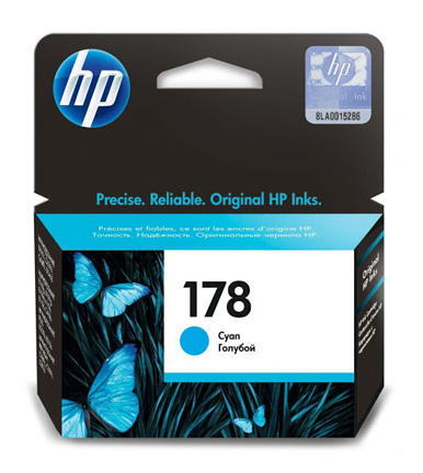 HP 178 Cyan Ink Cartridge CB318HE