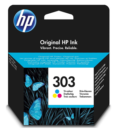 HP 303 Tri-Color Ink Cartridge T6N01AE