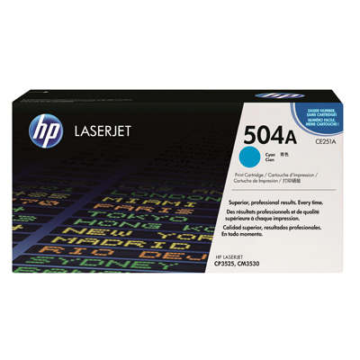 HP 504A Cyan Toner Cartridge CE251A