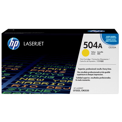 HP 504A Yellow Toner Cartridge CE251A