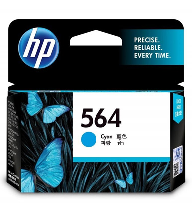 HP 564 Cyan Ink Cartridge CB318WA