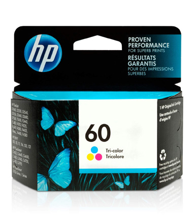 HP 60 Ink Cartridge Tri-color CC643