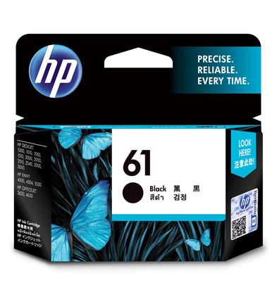 HP 61 Black Ink Cartridge CH561