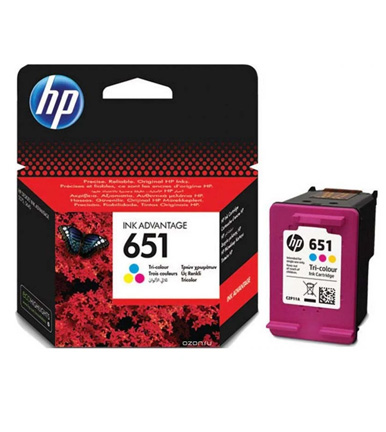 HP 651 Tri-Color Ink Cartridge C2P11AE