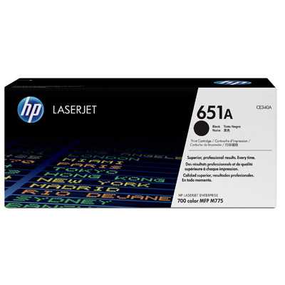 HP 651A Black Toner Cartridge CE340A
