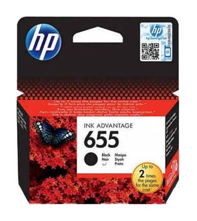 HP 655 Black Ink Cartridge CZ109A
