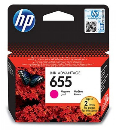 HP 655 Magenta Ink Cartridge CZ111AE