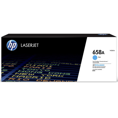 HP 658A Cyan Toner Cartridge W2001A