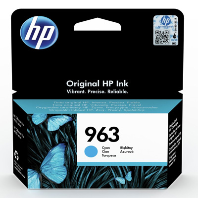 HP 963 Cyan Ink Cartridge 3JA23AE